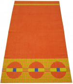 Beach towel or bath towel 100X170cm 100% cotton round orange