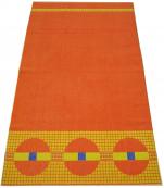 Drap de plage ou drap de bain 100X170cm 100% coton rond orange