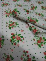 Nappe fraise des bois tergal 65% polyester 35% coton