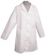 Lapel collar Apron 100% cotton, long sleeve, metal pressure