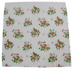 Serviette fraise des bois 42x42 cm tergal 65% polyester 36% coton