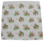 Strawberries Napkin 42x42cm 65% polyester and 35% cotton, white terylen