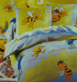 Duvet cover 140X200 cm + 1 pillowcase 65x65 cm Maya the Bee blue 100% cotton