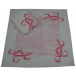 Towels for dishes 65x65 cm printed pink knot 56% linen 44% cotton