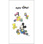 Bath towel terry-towel 70X130 play time Mickey - Minnie baby Disney 100% cotton