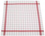 Essuie vaisselle+/-68x68cm 100% coton quadrillage rouge très absorbant