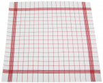 Towels for dishes +/-68x68cm 100% cotton red grid highly absorbent