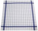 Essuie vaisselle+/-68x68cm 100% coton quadrillage bleu très absorbant