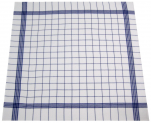 Towels for dishes +/-68x68cm 100% cotton blue grid highly absorbent