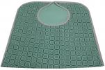 Bavoir adulte imperméable 45x90 cm carreaux verts 50/50 polycoton, polyester pvc