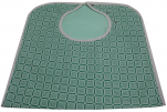 Bib waterproof adult 45x90 cm green tiles 50/50 polycotton, polyester pvc