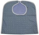 Bavoir adulte imperméable 45x90 cm carreaux bleus 50/50 polycoton, polyester pvc