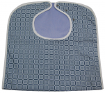 Bib waterproof adult 45x90 cm  blue tiles 50/50 polycotton, polyester pvc