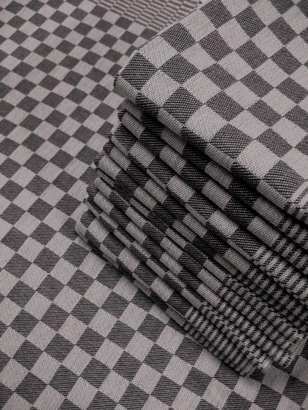 essuie vaisselle 70x65cm 100 coton damier noir. Black Bedroom Furniture Sets. Home Design Ideas