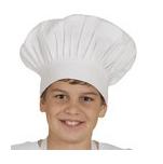 Toque retombante pour enfant et adolescent, 100% coton blanc avec velcro h25