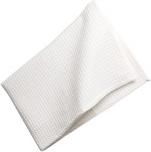 Essuie vaisselle nid d'abeille gaufré 100% coton blanc 75x50 cm 200 gr/m²