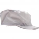 Casquette alimentaire blanche, visière rigide, 65% polyester et 35% coton, TU