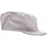 Food white cap, rigid peak, 65% polyester and 35% cotton, one size, 200 gr/m²