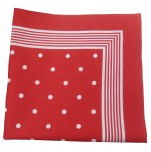 Red scarf with white dots 100% cotton 55x55 cm