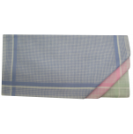 Ladies handkerchief 2x3 colors 100% cotton 33x32 cm : 1 pack of 6 handkerchiefs
