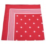 Foulard rouge à pois blanc 100% coton 60x60 cm