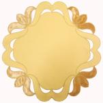 Napperon rond 30 cm dalton jaune  65/35 polycoton Sander