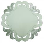 Napperon rond 30 cm de diamètre dalton vert 65/35 polycoton Sander