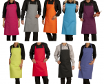 Apron bib 65/35 polycotton height 80 cm different colors