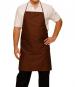 Bib apron colors, liens coulissants, central pocket, 65/35 polycotton