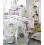 Duvet cover + pillowcases 65x65 cm bucolique 100% cotton percale