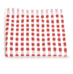Dishcloth 33x33 cm 100% cotton red and white