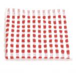 Lavette 33x33 cm 100% coton gaufré rouge et blanc