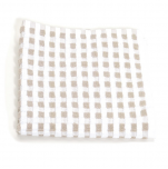 Dishcloth 33x33 cm 100% cotton beige and white