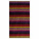 Beach towel 100x180 cm terry velor 100% cotton lined multi colors