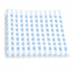Dishcloth 33x33 cm 100% cotton blue and white