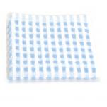 Lavette 33x33 cm 100% coton gaufré bleu et blanc