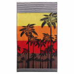 Beach towel 100x180 cm terry velor 100% cotton Palm trees