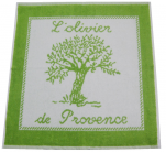 Hand towel 50x50 cm Olive trees in Provence 100% cotton jacquard