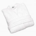 Peignoir kimono éponge 100% coton blanc