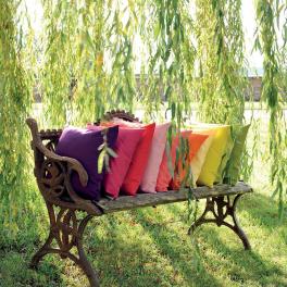 2 Cushion covers uni 40x40 cm or 50x50 cm 100% cotton
