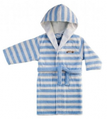 Children's bathrobe with hooded 100% cotton terry car