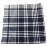 Mouchoirs de travail 50x50 cm quadrillé bleu marine - blanc 100% coton 12 pièces