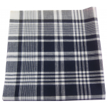 Work handkerchiefs 50x50 cm navy blue and white 100% cotton 12 pieces
