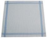 Essuie vaisselle+/- 70x65 cm 100% coton gauffré bleu et blanc