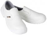 Chaussure S2 mixte blanche embout composite antidérapant résiste huile antistati