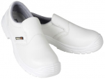 White shoe S2 composite shell slip resistant antistatic  resistant to oils
