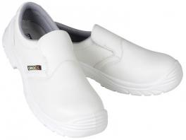 White shoe S2 composite shell slip resistant antistatic  resistant to oils