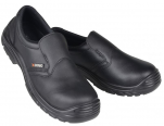 Black shoe S2 composite shell slip resistant antistatic  resistant to oils