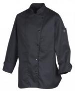 Veste de cuisine noire Mani polycoton 65/35 modèle spéciale Dame ML