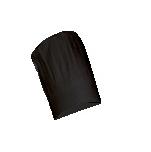 Toque noire grand chef  TB 100% coton reglable velcro 8cm Hbande9cm HT36cm